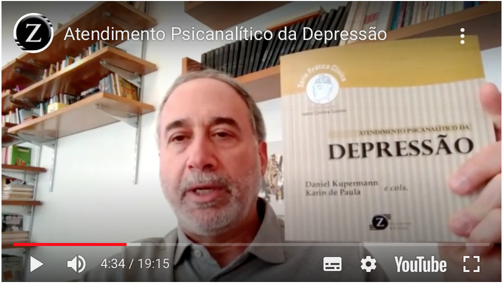 """Docente do IPUSP participa do lançamento on-line de seu livro  """"Atendimento Psicanalítico da Depressão"""". Assistam!"""